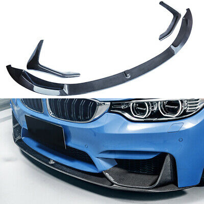 $299.98 • Buy Front Bumper Lip For 15-20 BMW M3 F80 M4 F82 F83 MP Style Splitter Carbon Look