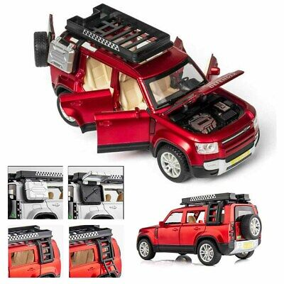 1:32 Car Land Rover Defender Diecast Model Toy Collection Light & Sound All-New • 17£