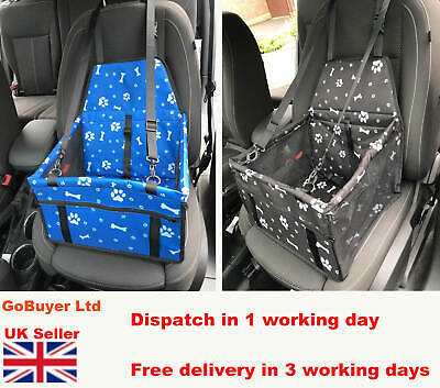£8.99 • Buy Dog Car Seat Booster / Dog Car Booster Seat  Foldable - Seat Belt - Pet Carrier