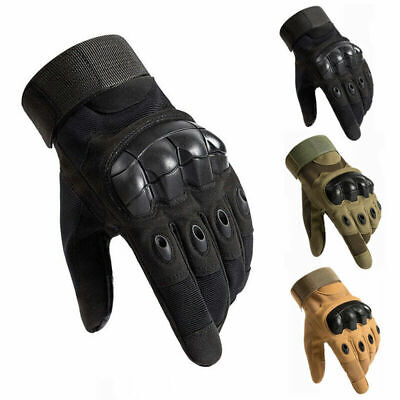 AU19.99 • Buy Military Tactical Hard Knuckle Gloves Full Finger/Fingerless Army Combat Hunting