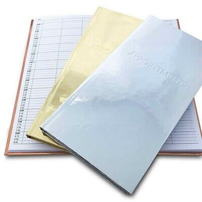 £11.99 • Buy Quirepale Metallic 3-Column Appointment Book - Hair, Beauty Or Spa