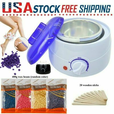 $24.99 • Buy Professional Wax Warmer Heater Hair Removal Depilatory Home Waxing Beans + Stick