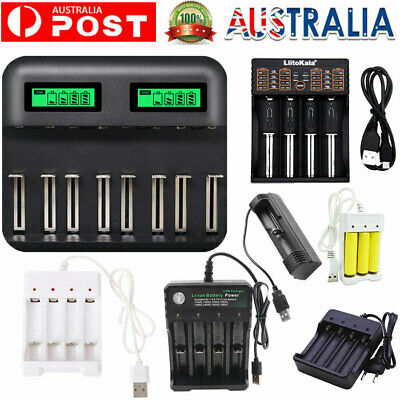 AU13.15 • Buy LCD 8-Slot Battery Charger USB Powered AA/AAA/C/D Rechargeable Battery Charger