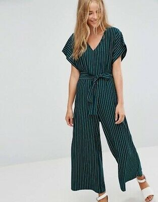 AU10 • Buy Bershka Green Stripe Jumpsuit XS - Worn Once