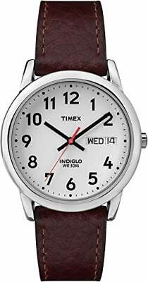 Timex Men's Easy Reader Brown Leather Watch - T20041 • 45.99£