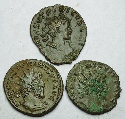 Interesting Selection Of Three Roman Bronze Coins (280u) • 5.50£