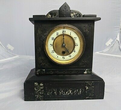 Antique Marble/ Slate Mantel Clock • 30£