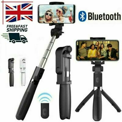 Telescopic Selfie Stick Bluetooth Tripod Monopod Phone Holder For IPhone Samsung • 5.99£