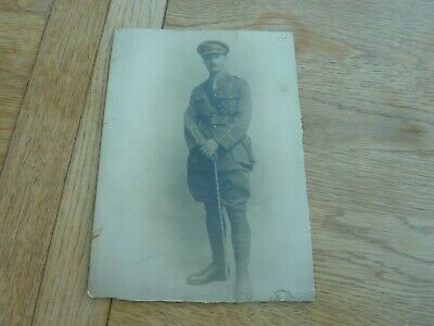 Ww1 Original Photo Portrait British Officer On Card 10 X 7  Ksli? • 7.99£