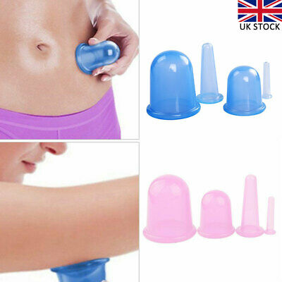 £7.69 • Buy 4pcs/set Silicone Anti Cellulite Massage Vacuum Cupping Body Facial Cups Therapy