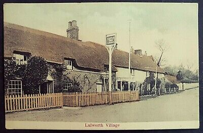 Rare Early Postcard Castle Inn-thatched Roof Cottages-(west) Lulworth Village • 10£