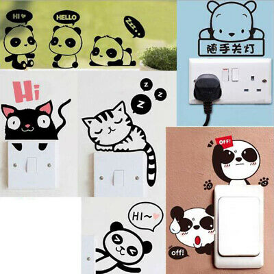 $ CDN0.99 • Buy Removable Funny Cat Switch Sticker Black Art Decal Wall Poster Vinyl Home Decor