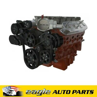 AU4500 • Buy Chev Holden LSA Engine Black Billet Serpentine Wraptor Kit  # B-LSA-WRAPTOR-AC
