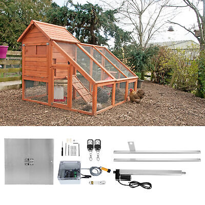 £167.30 • Buy Automatic Chicken Door Coop Poultry Hen Cage Opener Rails Closer Timer House