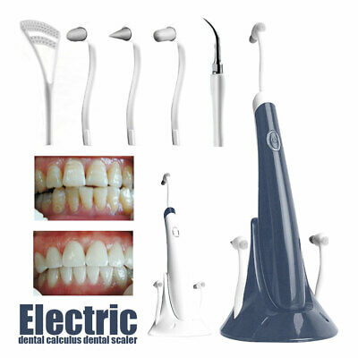 Electric Dental Calculus Scaler Calculus Plaque Remover Teeth Stains Cleaner Q • 15.49£