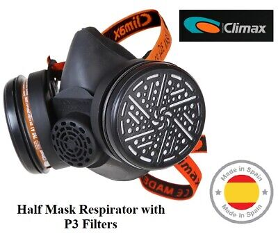 Climax - Ready To Use Half Face Mask WITH P3 Filter, Made In Spain • 24.95£