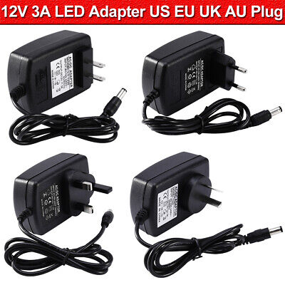 AC DC 12V 3A Power Supply Adapter Charger Transformer For LED Strip Light UK • 6.59£