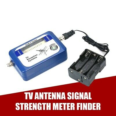 DVB-T Finder Digital Aerial Terrestrial TV Antennas Signal Strength Meter Blue G • 8.88£