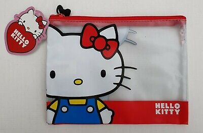 Brand New Hello Kitty Sanrio Zipped Clear Pencil Case School Stationery • 3.99£