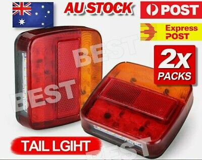 AU20.50 • Buy 2X Submersible Trailer Tail Lights 26 LED Stop Tail Lights Kit Boat Truck Lamp