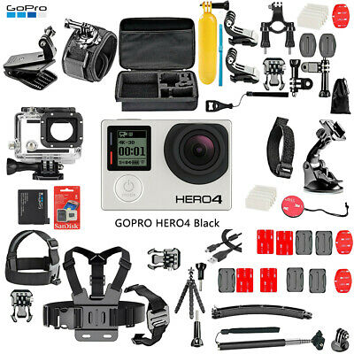 $ CDN187.97 • Buy GoPro HERO 4 Black Edition Action Camera Camcorder + 50PCS Extreme Accessories