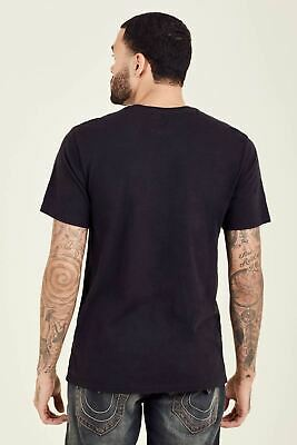 TRUE RELIGION Men's Pitch Black Tonal Buddha Short Sleeve T-Shirt XS BNWT RRP59 • 17.65£