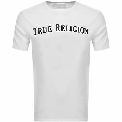 TRUE RELIGION Men's White Straight Short Sleeve Crew Neck T-Shirt XL BNWT RRP49 • 24.50£