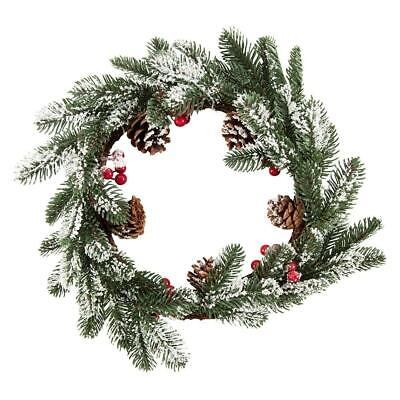 Something Different Snowy Pine & Berry Christmas Wreath SD2936 • 15.25£