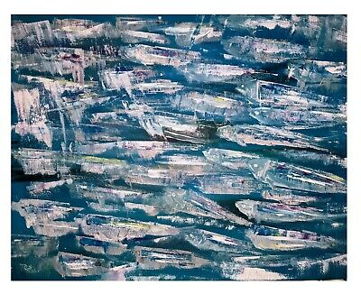 PRINT From Original Abstract Acrylic Painting Canvas - SARDINES - Sea, Fish • 16£
