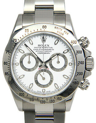 $ CDN31509.37 • Buy Rolex Daytona Chronograph Steel White Dial Mens Watch Box/Papers 2013 116520