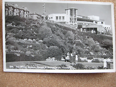 The Winter Gardens, Cascade & Battery, Ventnor, Isle Of Wight (RP)- Posted 1955 • 2.25£