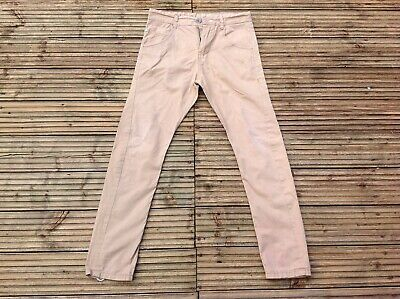 Boys NEXT Skinny Twisted Carrot Fit Camel Chino Trousers Size UK S 28/26 • 7.99£