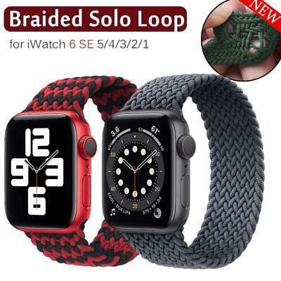 $ CDN7.49 • Buy Nylon Braided Solo Loop Strap Band For Apple Watch Series SE 6 5 4 3 38/40/44 MM