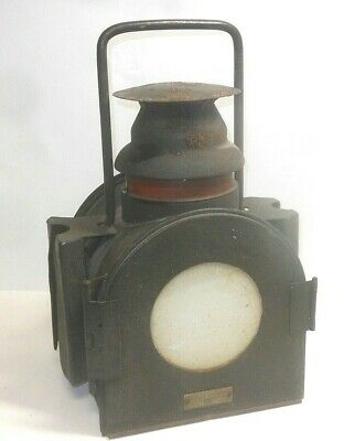 Railway Lamp Light Signal Lantern Bahnlampe From SCHIFFLATERNENWERK UECKERMÜNDE • 46.71£