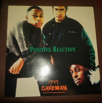 CAVEMAN - Positive Reaction LP Vinyl Record EX Original 1991 UK Hip Hop • 8£
