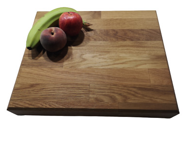 £42.99 • Buy Extra Large Butchers Block 60mm Thick Solid Oak Chopping Board + Free Gift