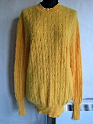 N.peal Orange Cashmere Cable Knit Long Line Jumper Size Size M • 75£