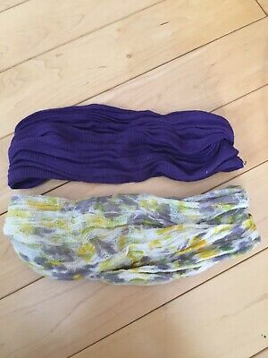 $ CDN30 • Buy Free People Printed Headband Stretch Wideband Hair Accessories; Lot Of 2;