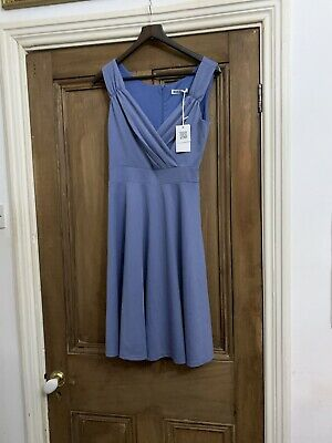 Size Med Grace Karin Smart Work Dress Bnwt In Pale Blue Fab With Jacket  • 5£