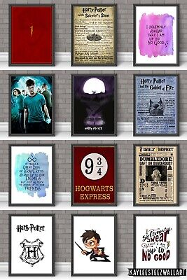 Harry Potter Kids Teens Picture Wall Art Print A5 A4 A3 Poster Room Decor • 6.99£