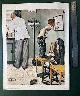 $ CDN16.52 • Buy 1972 NORMAN ROCKWELL PRINT / Vaccine At The Doctors