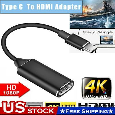 $9.53 • Buy For Samsung Apple Macbook USB-C Type C To HDMI Cable 4K HD TV Converter Adapter