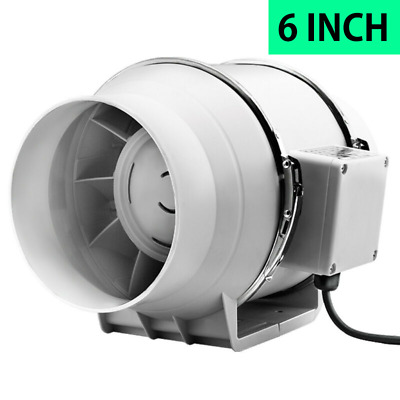 "AU48.98 • Buy 6"" 150mm Hydroponic -Inline Exhaust Fan Silent Extractor Turbo 150 AU"