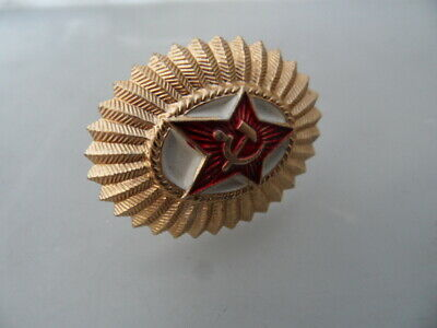 Russian USSR Army Military Imperial Eagle Ushanka Hat Metal Pin Badge 005 • 3£