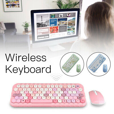 AU58.98 • Buy Wireless Gaming Keyboard And Mouse Combo Bundles Ergonomic Computer Peripherals