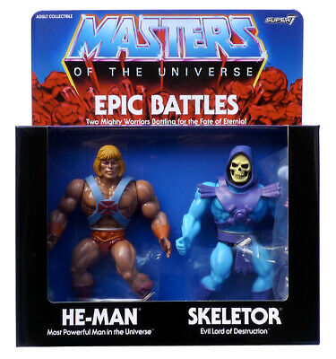 $139.78 • Buy Masters Of The Universe He-Man & Skeletor Epic Battle 2 Figures Pack Motu Super7