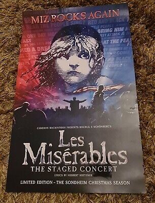 £15 • Buy Les Miserables The Staged Concert 2020 Poster London Musical Theatre