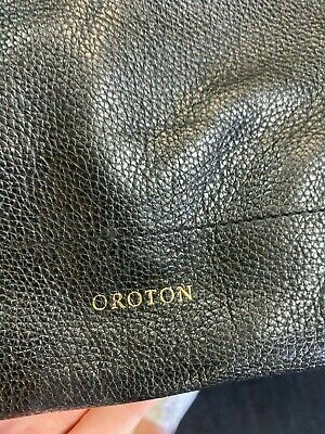 AU130 • Buy Oroton Black Cross Body Bag. 100% Leather, Hardly Used Great Condition