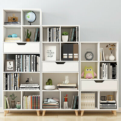£59.99 • Buy Modern Tall Cabinet Display Bookcase Shelving Cube Storage Drawer Unit White