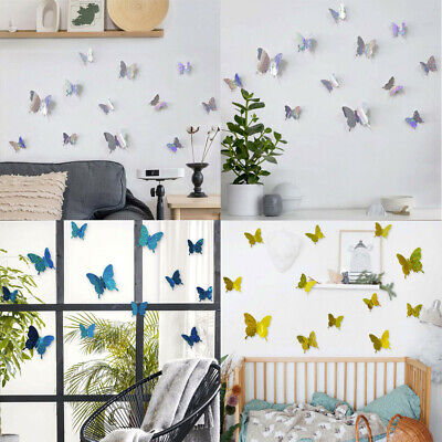 AU1.89 • Buy 12PCS 3D DIY Wall Decal Stickers Butterfly Home Room Art Decor Decorations